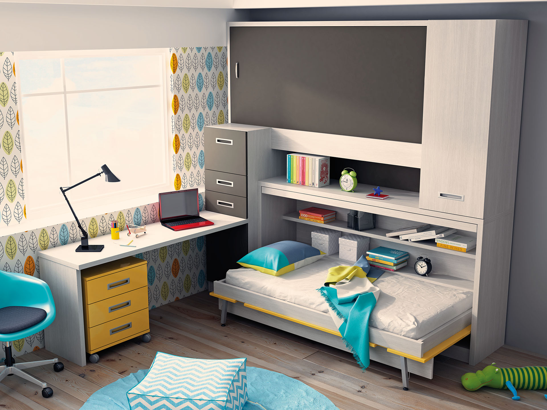 Mueble Juvenil En Madrid En Diseno Juvenil - Diseo-dormitorios-juveniles